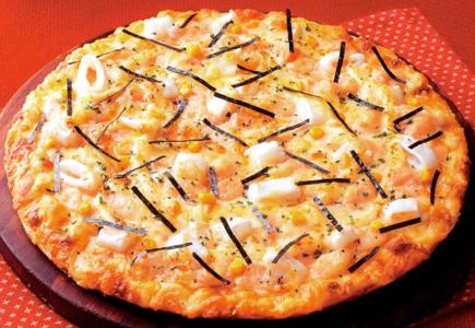 ピザーラ-カニのよくばりクォーター-もち明太子ピザ