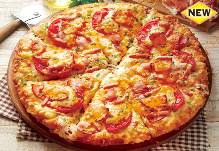ピザーラ-カロリー-黄金チーズと贅沢4種ハムのピザ